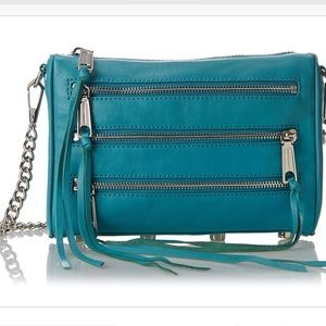 Rebecca Minkoff Turquoise Moto 3 Zip purse!